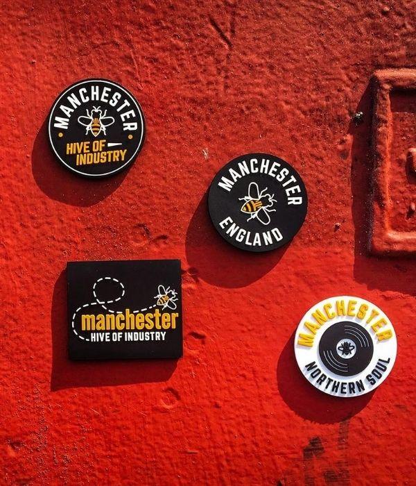 manchester souvenirs fridge magnets